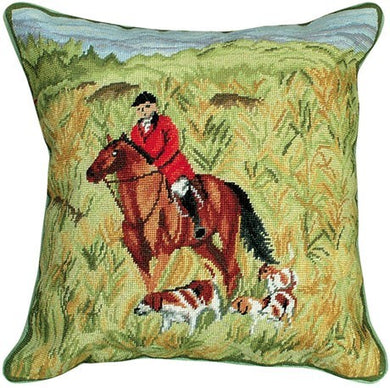 14X14 Petit Point Needlepoint Decorative Pillow