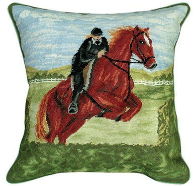 Jumper 14x14 Petit Point Needlepoint Pillow
