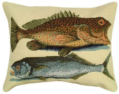 Two Fish Decorative Pillow