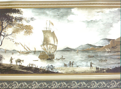 Vintage Ship B836238 Wallpaper Border