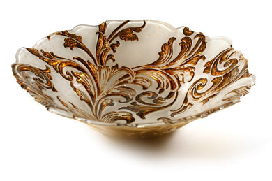 Vanessa  Cream and Gold Bowl