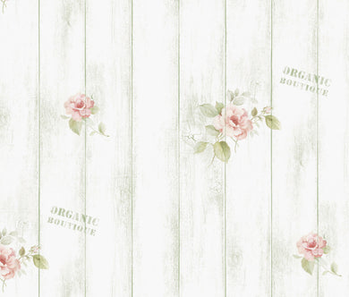Floral Wood Panel Contact Paper Shelf Liner