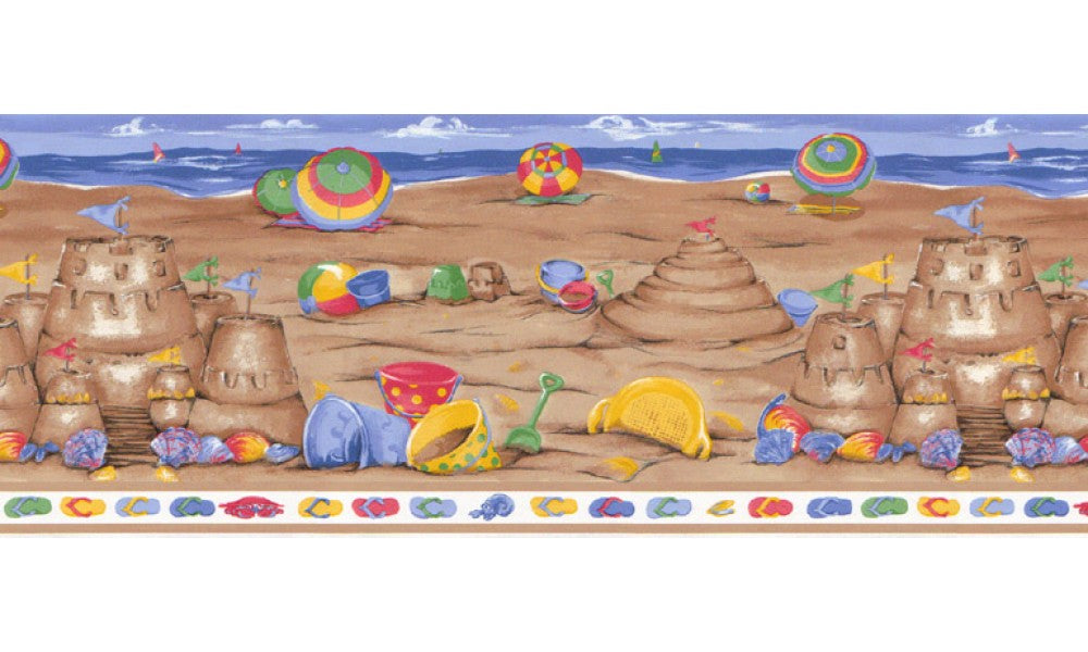 Beach LA73583B Wallpaper Border