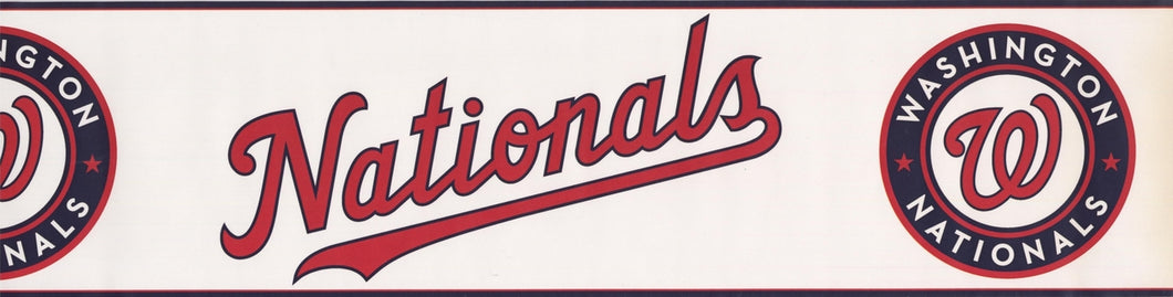 Washington Nationals MLB Baseball Team ZB3361BD Wallpaper Border