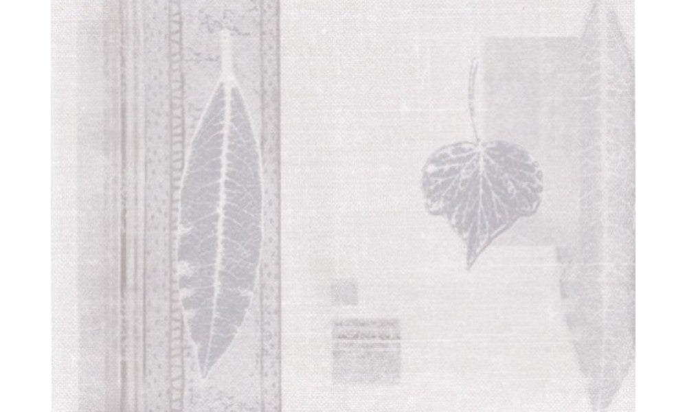 Silver Cream Nature Leaves SF78320B Wallpaper Border