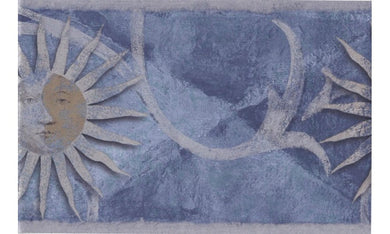 Silver Blue Moon Sun SH79701B Wallpaper Border