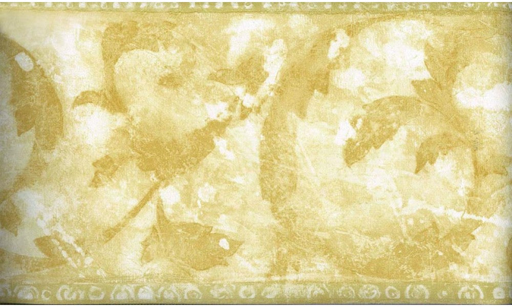 Yellow Floral Shaded NE76967B Wallpaper Border
