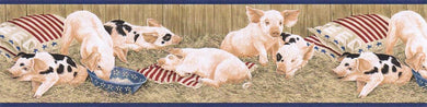 Pig Farm AFR7101 Wallpaper Border