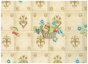 Fruit Basket Almond Tile Contact Paper