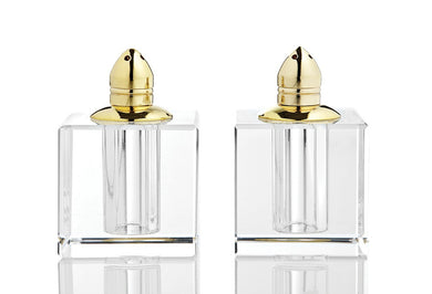 Gold Glass Salt and Pepper Shakers