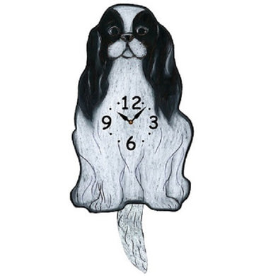 Japanese Chin Dog Wagging Pendulum Clock