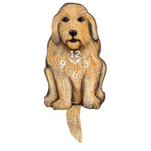 Load image into Gallery viewer, Labradoodle Dog Wagging Pendulum Clock