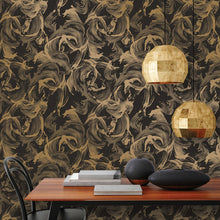 Load image into Gallery viewer, L'Amour Matte Black & Gold Self-Adhesive LA519 Wallpaper