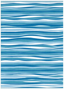 Blue Marina Wave Contact Paper 9 FT