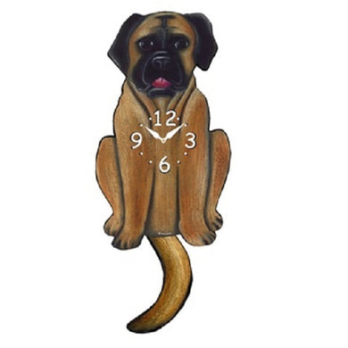 English Mastiff Dog Wagging Pendulum Clock