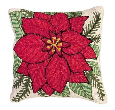 Pointsettia Decorative Pillow
