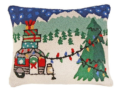Christmas Camper Decorative Pillow