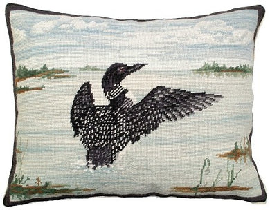 Loon in Flight Decorative Pillow