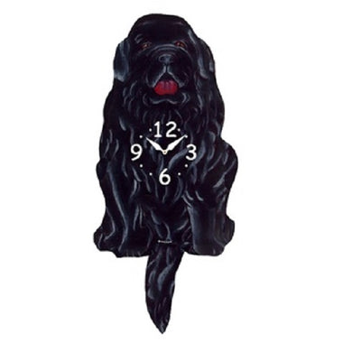 Newfoundland Dog Wagging Pendulum Clock