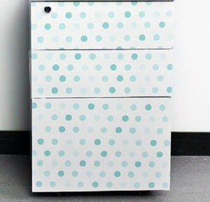 Polka Dot White Contact Paper