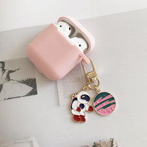 Apple AirPods Protective Silicone Case with Keychain