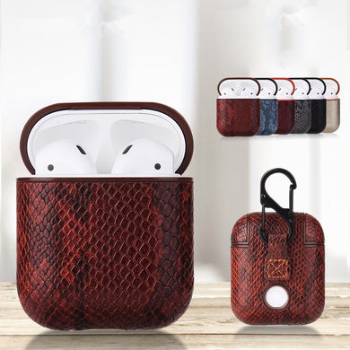 Snake Skin Leather Case For Apple AirPods