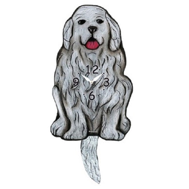 Great Pyrenees Dog Wagging Pendulum Clock