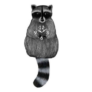 Raccoon Pendulum Wall Clock
