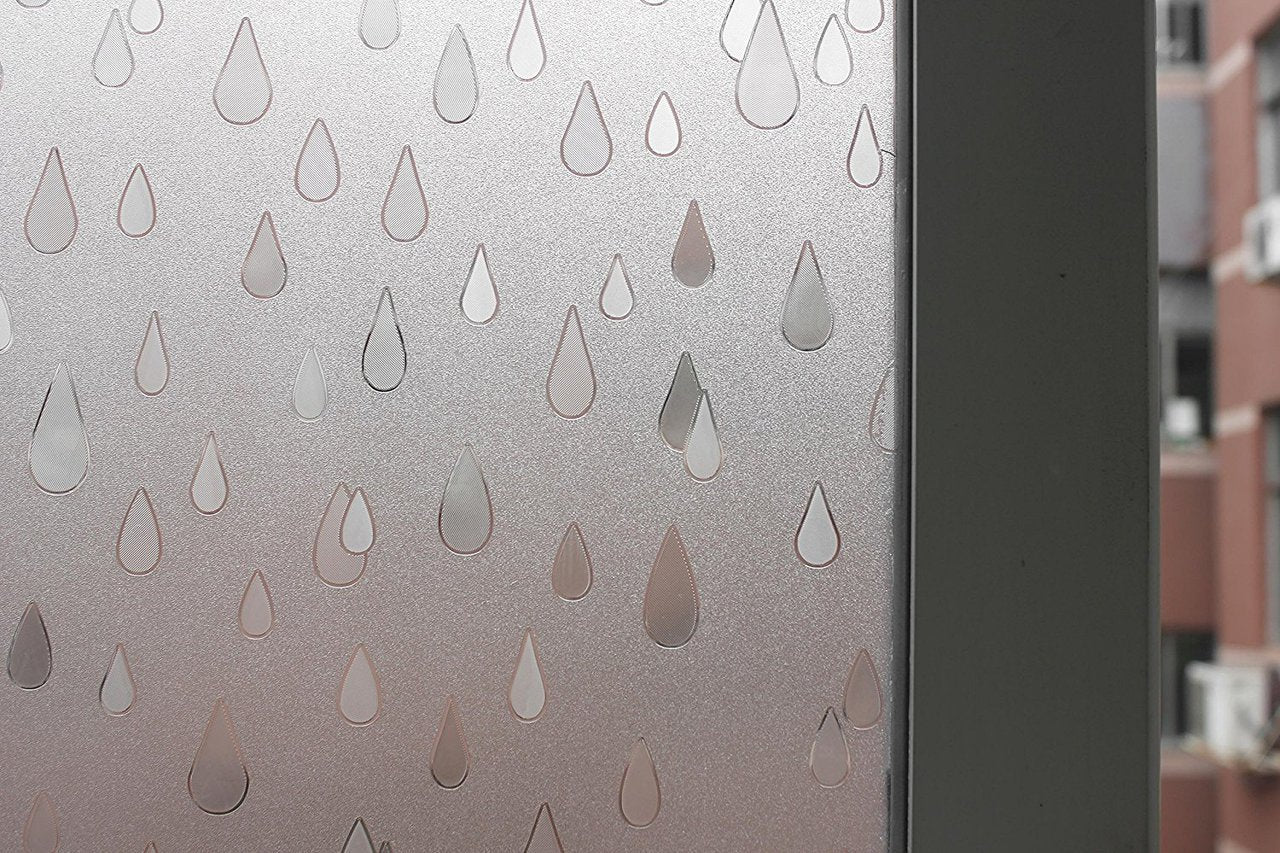 Rain Drops Sidelight Textured Window Film