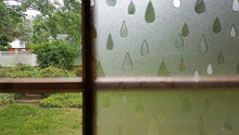 Load image into Gallery viewer, Rain Drops Sidelight Textured Window Film
