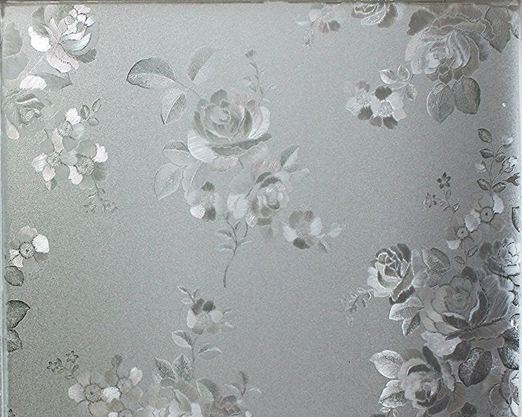 Roses Sidelight Textured Window Film