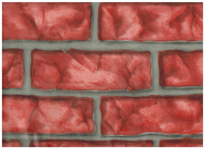 Red Brick Contact Paper