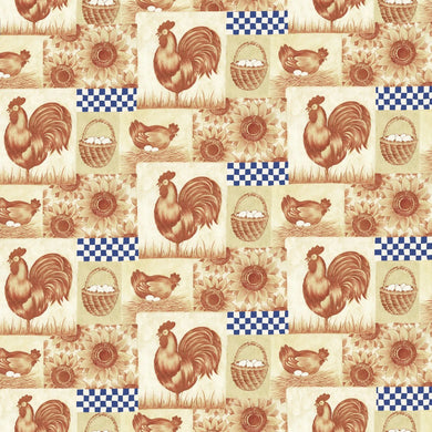 Farm Rooster Contact Paper