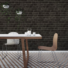Load image into Gallery viewer, Brick Ebony Self-Adhesive BR523 Wallpaper