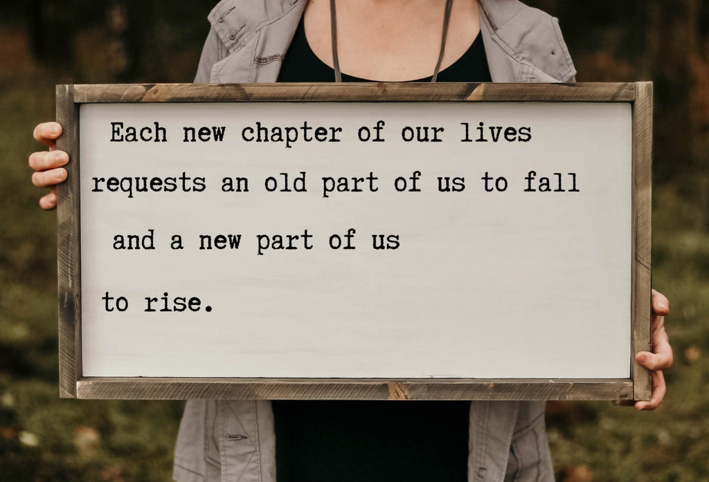 Each New Chapter Of Our Lives