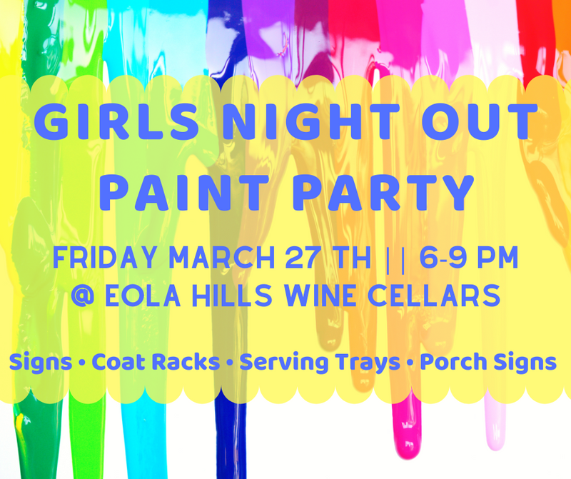 Girls Night Out Paint Party 3.27.20 @ Eola Hills Wine Cellars