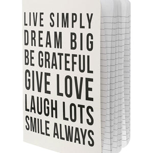 Live Simply Quotes Notebook
