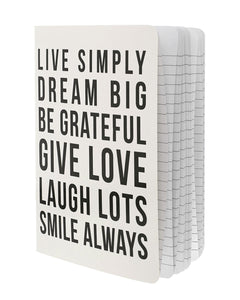 Live Simply Quotes Notebook - Teresa Collins Studio