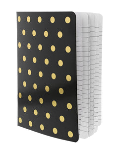 Gold Polka Dots Notebook - Teresa Collins Studio