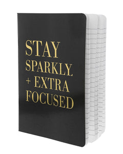 Stay Sparkly Notebook | Black - Teresa Collins Studio