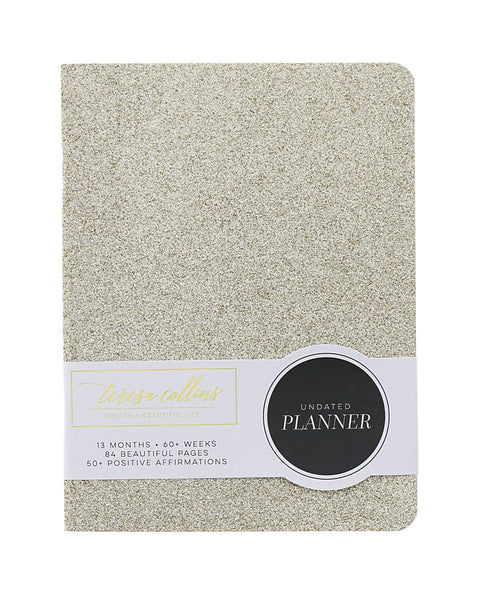 Gold Glitter 13 Month Undated Planner