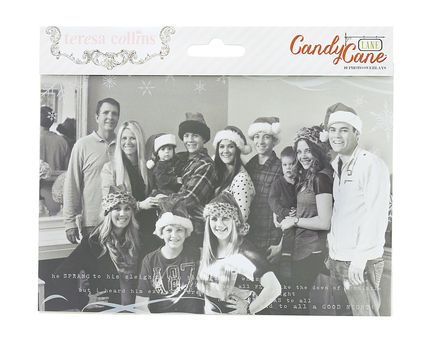 Candy Cane Lane Photo Overlays