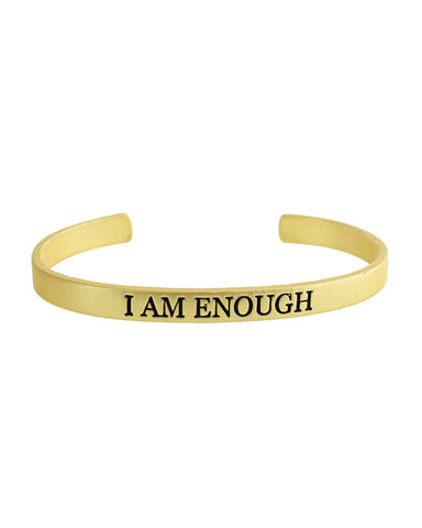 I Am Enough Bracelet - Gold