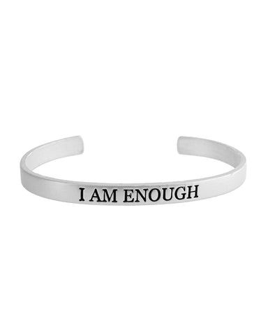 I Am Enough Bracelet - Silver