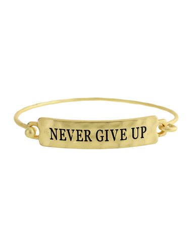 Never Give Up Bracelet - Gold