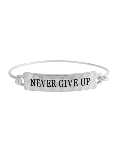Never Give Up Bracelet - Silver