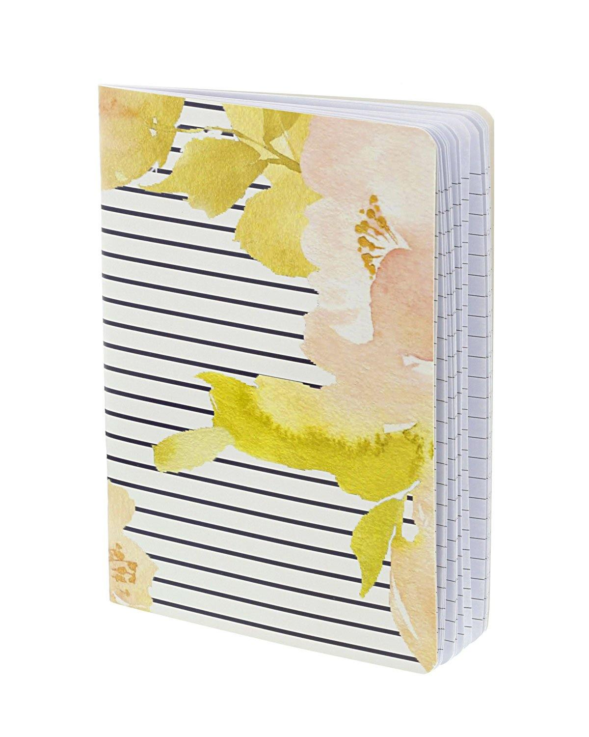 Floral Stripe Notebook
