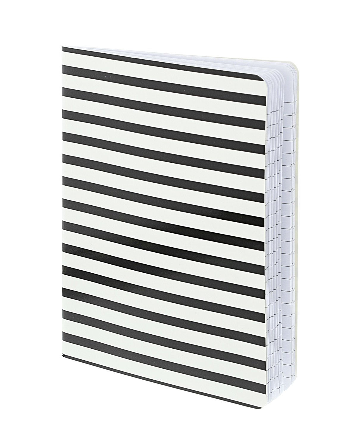Glossy black and white stripe notebook