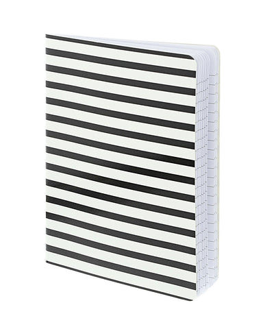 Black and White Striped Notebook