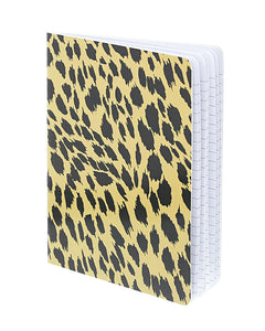 glossy leopard print notebook
